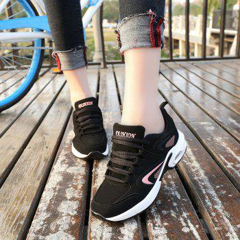 2018 Spring New Women Sneakers Hot Sale - BLACK/PINK 38