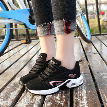2018 Spring New Women Sneakers Hot Sale - BLACK/PINK 36