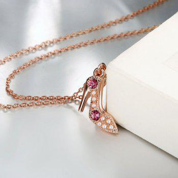 Romantic High Heel Shape Pendant Necklace Charm Jewelry - ROSE GOLD