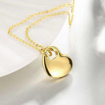 Hollow Out Heart Shape Pendant Necklace Charm Jewelry Gift For Women - GOLDEN