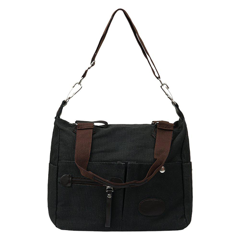 Fashionable Ladies Shoulder Messenger Bag - BLACK
