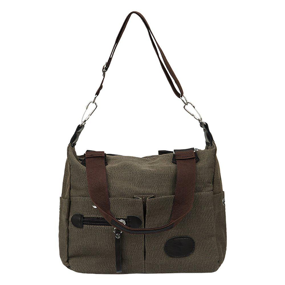 Fashionable Ladies Shoulder Messenger Bag - COFFEE