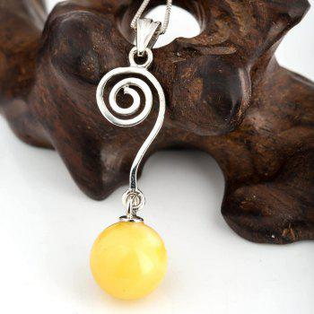 Amber Silver Pendant36094 Gift Jewelry - MAIZE PENDANT: 39X13MM, NECKLACE: 43CM