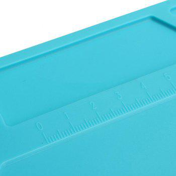 Heat Insulation Silicone Repair Mat with Scale Ruler and Screw Position for Soldering  Phone and Computer Repair - BLUE