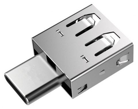 New Silver Type - C To USB 2.0 OTG Adapter Charger - SILVER