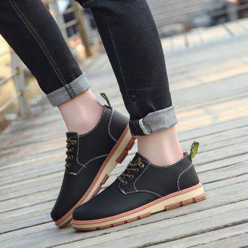 Men Business Casual Fashion Leather Workers Shoes - BLACK 43