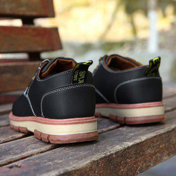 Men Business Casual Fashion Leather Workers Shoes - BLACK 39