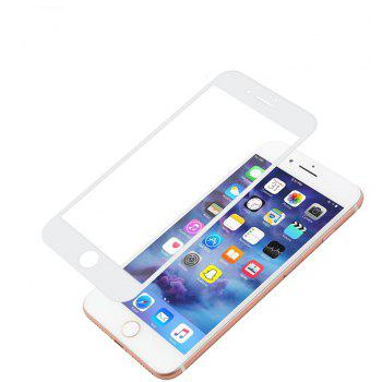 4D All  Tempered Glass Screen Protector for iPhone 7plus and iPhone 8plus Edge - WHITE