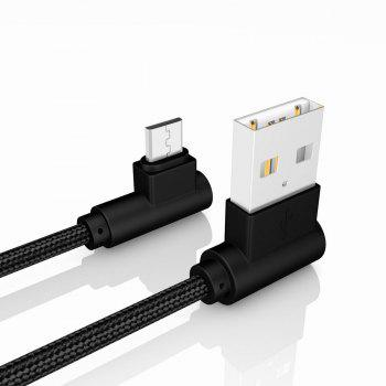 20CM Android Micro Cable Charge for Samsung Xiaomi 90 Degree Cable for MEIZU HTC Huawei - BLACK