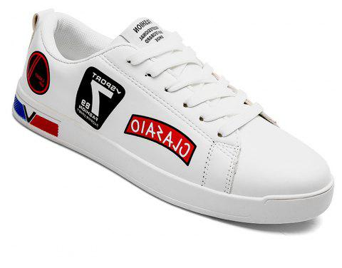 2018 School Style Personality Skateboard Shoes - WHITE/RED 41