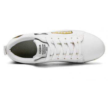2018 School Style Personality Skateboard Shoes - WHITE/GOLDEN 44