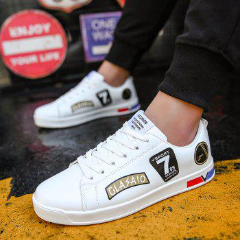 2018 School Style Personality Skateboard Shoes - WHITE/GOLDEN 39