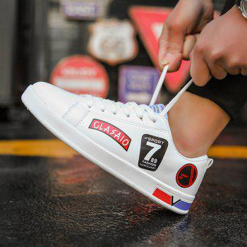 2018 School Style Personality Skateboard Shoes - WHITE/RED 37
