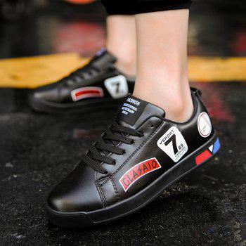 2018 School Style Personality Skateboard Shoes - BLACK 39