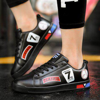 2018 School Style Personality Skateboard Shoes - BLACK 37
