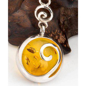 Amber Silver Pendant36105 Gift Jewelry - MAIZE PENDANT: 26X16MM, NECKLACE: 40CM