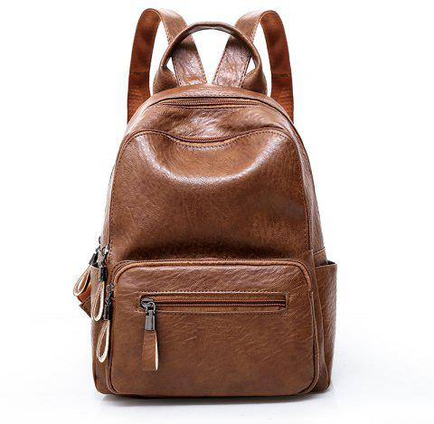 LX Large Capacity Ladies' Shoulder Knapsack - BROWN