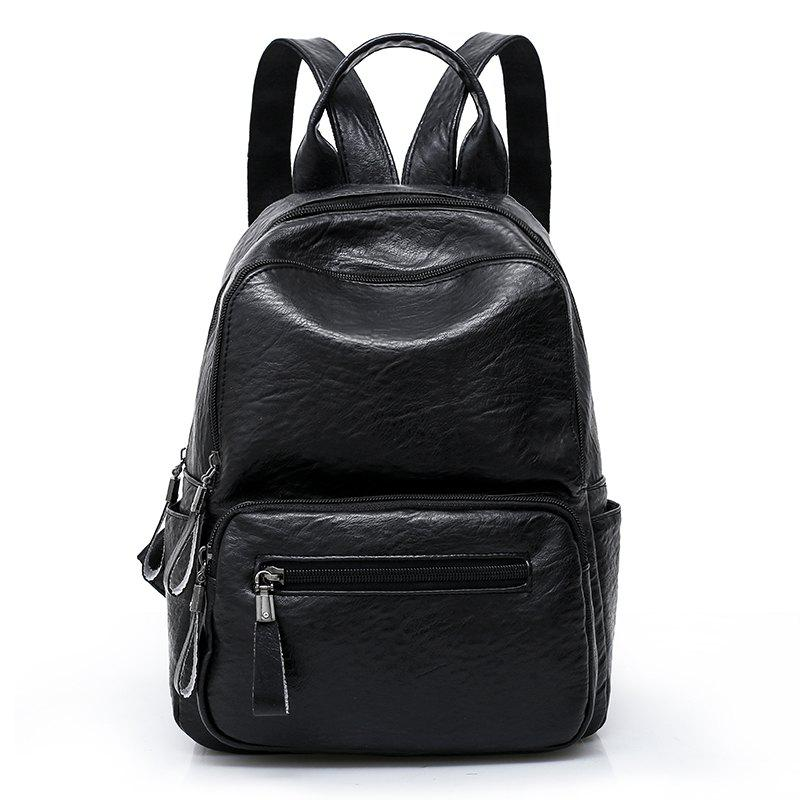LX Large Capacity Ladies' Shoulder Knapsack - BLACK