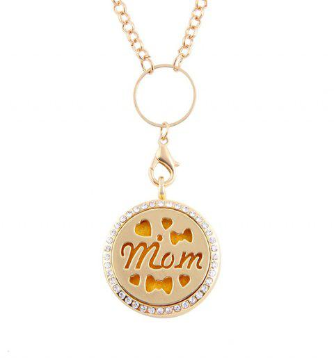 Newly Floating  Hollow out MOM Letter Pendant for Jewelry Diy - GOLDEN SIZE 3
