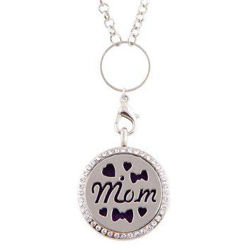 Newly Floating  Hollow out MOM Letter Pendant for Jewelry Diy - SILVER SIZE 3