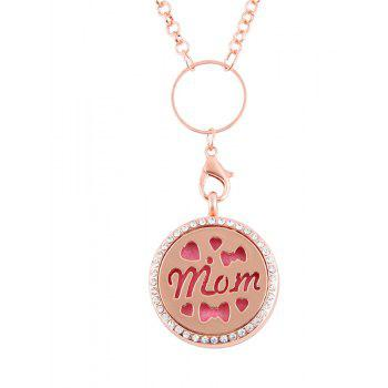 Newly Floating  Hollow out MOM Letter Pendant for Jewelry Diy - ROSE GOLD SIZE 3
