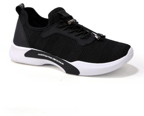 New Style Breathable Shoes Casual Running Sneakers for Men - BLACK 44