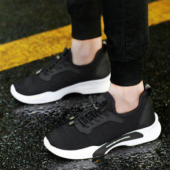 New Style Breathable Shoes Casual Running Sneakers for Men - BLACK 41