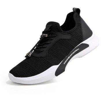 New Style Breathable Shoes Casual Running Sneakers for Men - BLACK 42