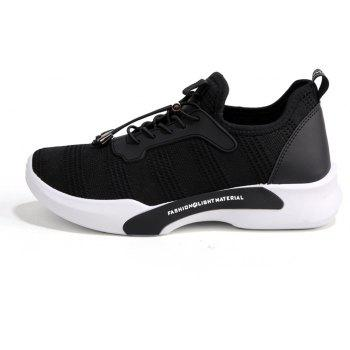 New Style Breathable Shoes Casual Running Sneakers for Men - BLACK 40