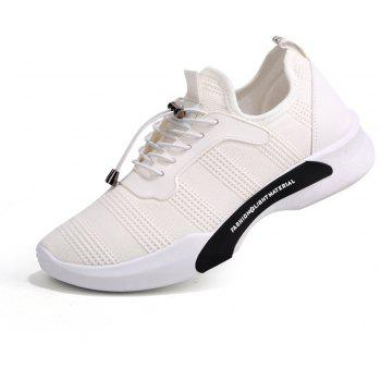 New Style Breathable Shoes Casual Running Sneakers for Men - WHITE 43