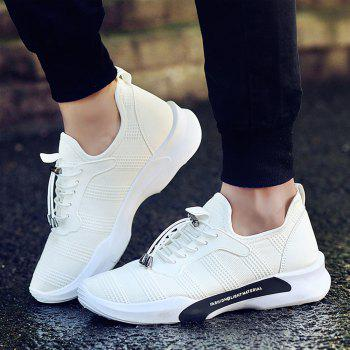New Style Breathable Shoes Casual Running Sneakers for Men - WHITE 44