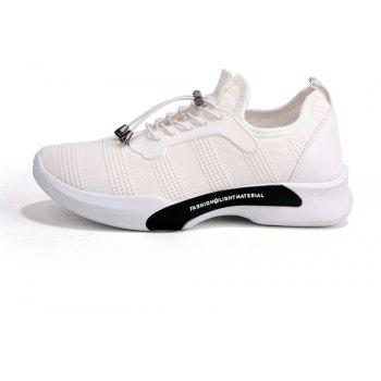 New Style Breathable Shoes Casual Running Sneakers for Men - WHITE 42