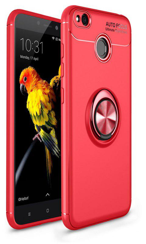 Ring Case for Xiaomi Redmi 4X with Kickstand TPU Shockproof Protection Cover - RED