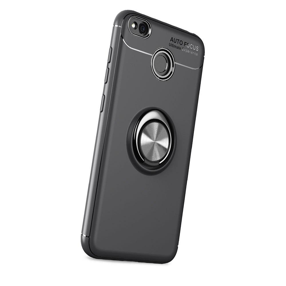 Ring Case for Xiaomi Redmi 4X with Kickstand TPU Shockproof Protection Cover - BLACK