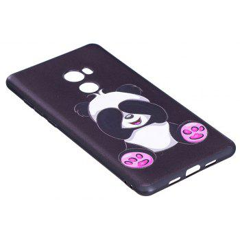 Relief Silicone Case for Xiaomi Mix 2 Panda Pattern Soft TPU Protective Back Cover - BLACK
