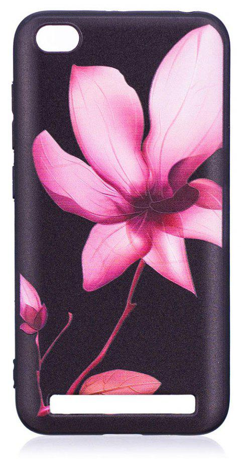 Relief Silicone Case for Xiaomi Redmi 5A Lotus Pattern Soft TPU Protective Back Cover - PINK