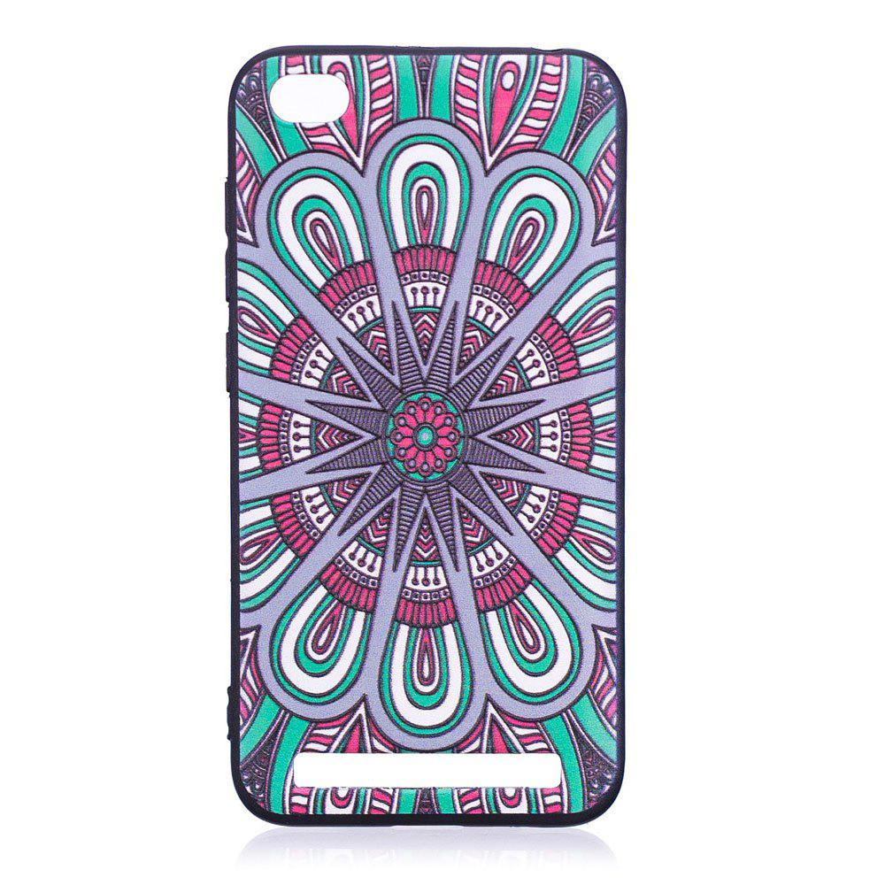 Relief Silicone Case for Xiaomi Redmi 5A Mandala Pattern Soft TPU Protective Back Cover - BLUE