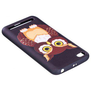 Relief Silicone Case for Xiaomi Redmi 5A Owl Pattern Soft TPU Protective Back Cover - BROWN