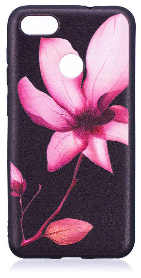 Relief Silicone Case for Huawei P9 Lite Mini / Y6 Pro 2017 Lotus Pattern Soft TPU Protective Back Cover - PINK