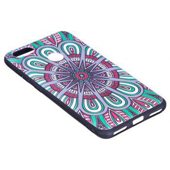 Relief Silicone Case for Huawei P9 Lite Mini / Y6 Pro 2017 Mandala Pattern Soft TPU Protective Back Cover - BLUE