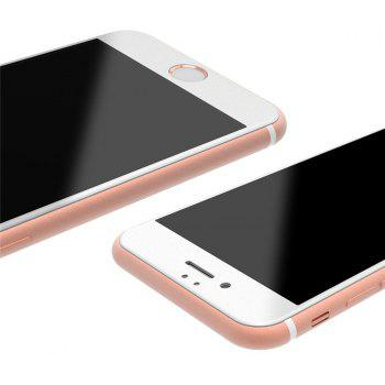 3D Round Curved Edge Tempered Glass for iPhone 7 Plus Full Cover Protective Premium Screen Protector Film - WHITE