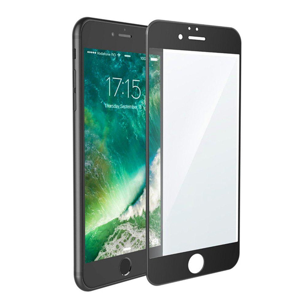 3D Round Curved Edge Tempered Glass for iPhone 8 Plus Full Cover Protective Premium Screen Protector Film - BLACK