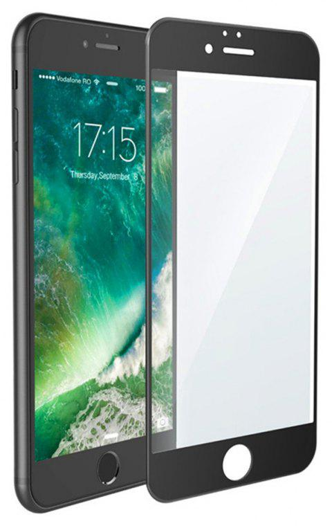 3D Round Curved Edge Tempered Glass for iPhone 8 Full Cover Protective Premium Screen Protector Film - BLACK