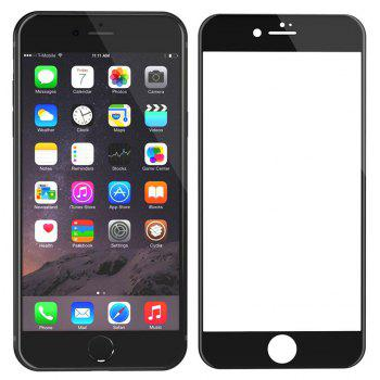 3D Round Curved Edge Tempered Glass for iPhone 6/6S Full Cover Protective Premium Screen Protector Film - BLACK