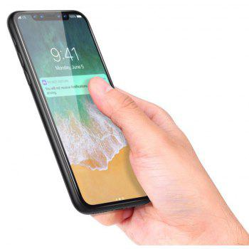 3D Round Curved Edge Tempered Glass for iPhone X Full Cover Protective Premium Screen Protector Film - BLACK
