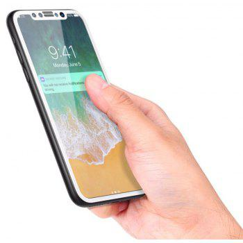 3D Round Curved Edge Tempered Glass for iPhone X Full Cover Protective Premium Screen Protector Film - WHITE