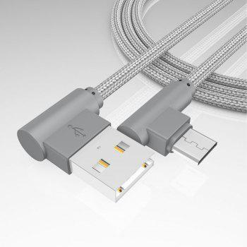 1M Android Micro Cable Charge for Samsung  Xiaomi 90 Degree Honor Huawei - GRAY