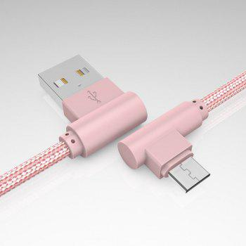 1M Android Micro Cable Charge for Samsung  Xiaomi 90 Degree Honor Huawei - PINK