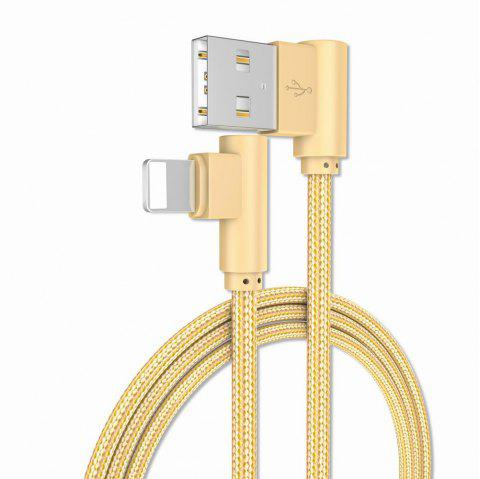 1M Charge iPhone 6/7/8/X 90 Degree Cable for ipad - GOLDEN
