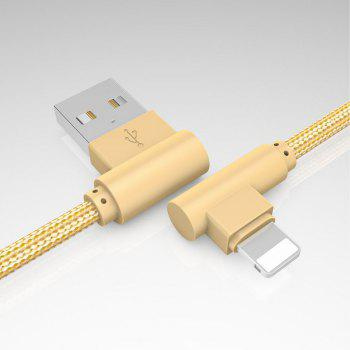 1M Charge iPhone 6/7/8 / X 90 Degrés Câble pour ipad - Or